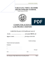 COMPUTER PROJECT REPORT FINAL
