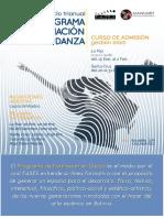 Broshure Programa de Formación en Danza