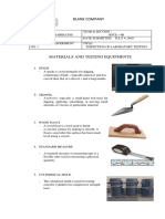 Construction Materials and Testing