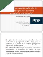 Adición de analgesia regional a la anestesia general