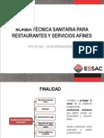 Norma sanitaria para restaurantes y servicios afines