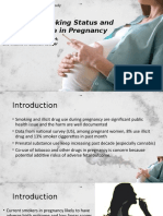 Cigarette Smoking Status and Substance Use in Pregnancy