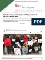 England, Germany, Switzerland_ Anti-CAA protests