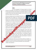 A PROJECT REPORT ON FINANCIAL PERFORMANCE EVALUATION WITH KEY RATIOS  AT VASAVADATTA CEMENT KESORAM INDUSTRIES LTD SEDAM GULBARGA.pdf