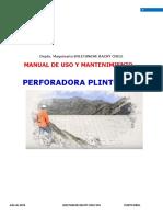Manual de Operación Plinto Drill