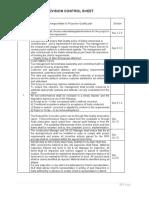 Revision  Control sheet