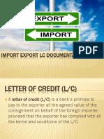 Import Export LC