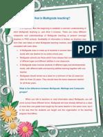 What is Multigrade teaching?