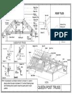 Queen post truss
