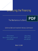 Structuring the Financing
