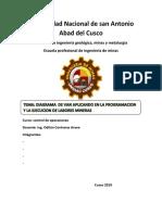 DIAGRAMA  DE VAN APLICANDO EN LA PROGRAMACION Y LA EJECUCION DE LABORES MINERAS