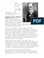 Freud was an Austrian neurologist and the founder of psychoanalysis