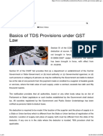 Basics of TDS Provisions under GST Law