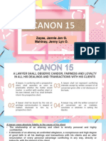 Legal Ethics - Canon 15.01-15.04