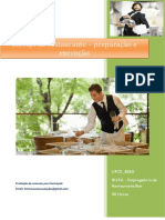UFCD 8265 Serviço de Restaurante – Preparação e Execução Índice