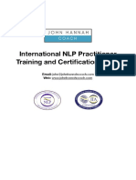 International NLP Practitioner Training and Certification Guide