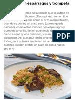 Piñones con espárragos y trompeta amarilla | Gastronomía & Cía