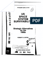US space system survivability