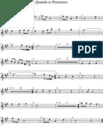 Quando Te Prostares-Sax Soprano