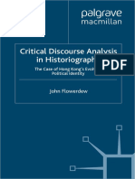 Critical Discourse Analysis in Historiography_ The Case of Hong Kong's Evolving Political Identity-Palgrave Macmillan UK (2012)