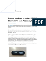Internet móvil con el modem 3G USB Huawei E303 en la Raspberry