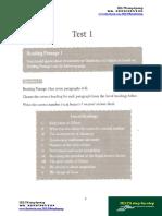 ACTUAL TEST READING VOLUME 1-TEST 1
