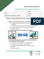 Evaluaciòn de Capacitaciòn PMIRS