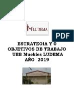 Estrategia y OBJETIVOS de trabajo 2019 LUDEMA.docx