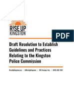 Kingston Police Accountability Draft Legislation 2020