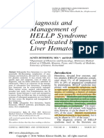 Diagnosis and Management of HELLP Syndrome Complicated by Liver Hematoma