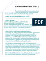 Essay on Industrialization in India.docx