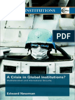 A Crisis in Global Intutitutions