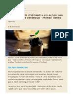 Como viver de dividendos em ações  um guia prático e definitivo - Money Times