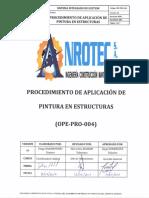 PROCEDIMIENTO DE APLICACION DE PINTURA EN ESTRUCTURAS