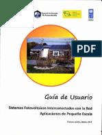 Guía de Ususario Sistemas Fotovoltaicos Interconectados a la Red - Instituto de Investigaciones Eléctricas
