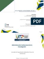 Memorias Capacitación CvLac 2018-VIIE-UTP