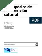 Los espacios de intervención cultural - Manual