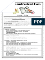 Compare Contrast Essay Format