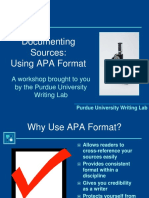 Documenting Sources APA     Format.pptx