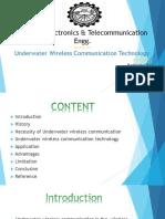 Underwater wireless communication