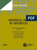 Matemáticas para no matemáticos
