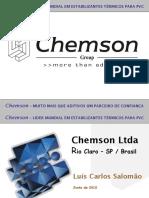 Chemson - Apresentação Extrusão Tubos - Setembro2011.ppt