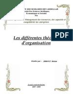 Les différentes théories des organisation
