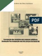 PERCEPÇÃO DOS USUÁRIOS NO ESPAÇO PÚBLICO