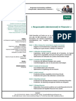 Plan de formation  Intervenants pour la formation de Responsable Administratif et Financier (1)