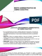 Procedimiento Administrativo de Cobro Coactivo