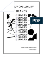 Study on Luxury Brands