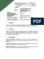 PROCEDIMIENTO PLANIFICACION GESTION DEL CAMBIO