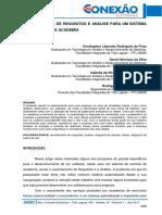 169 Levantamento de Requisitos e Análise Para Um Sistema de Controle de Academia
