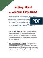 Fretting Hand Technique Explained